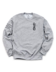 Pineapple Logo Sweatshirt - Triblend Grey