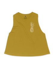 Pineapple Logo Crop Tank - Honey