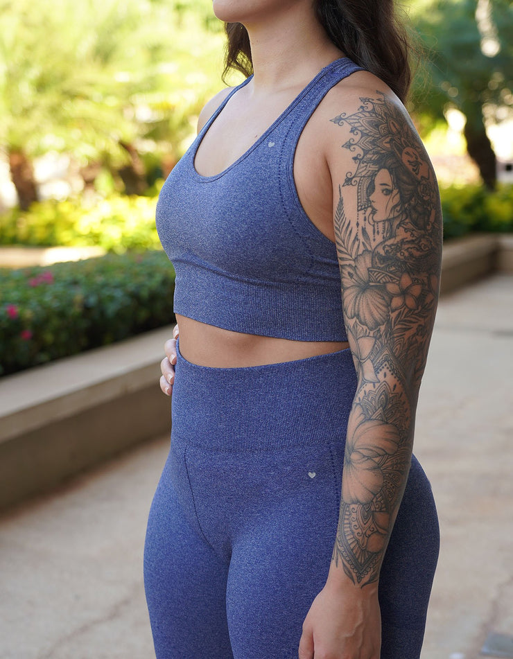 Resilient Seamless Sports Bra - Azure