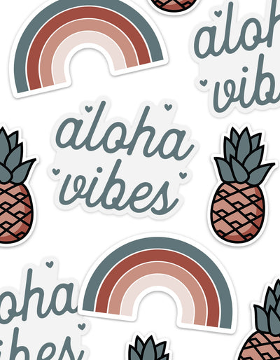 Retro Hawaii Sticker Pack