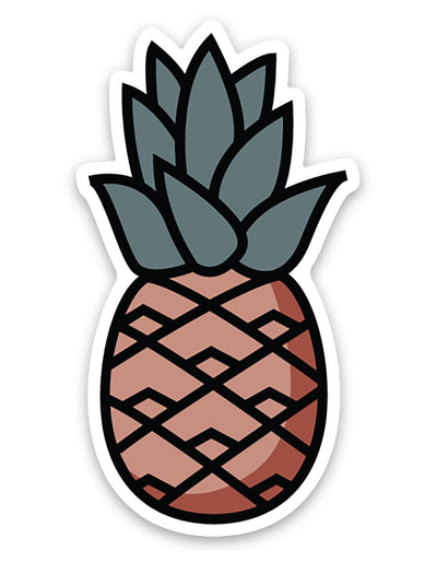 Rustic Pineapple Sticker