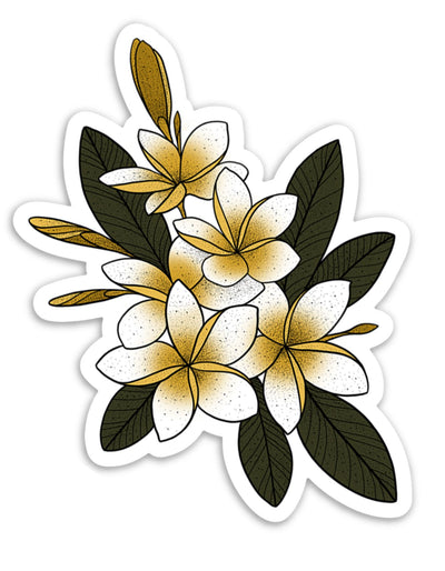 Sweet Plumeria Sticker