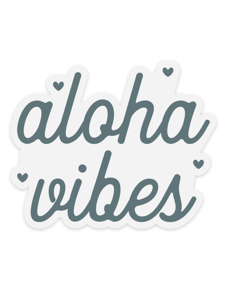 Teal Aloha Vibes - Clear Sticker