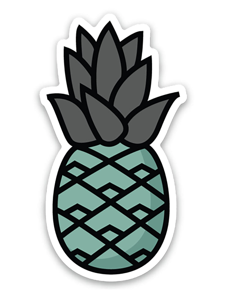 Teal Pineapple Sticker