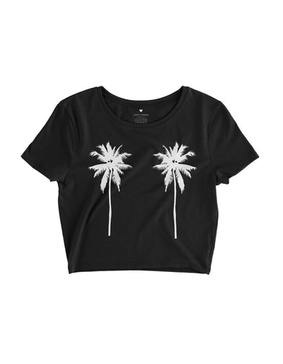 Tropical Palm Trees- Black Crop