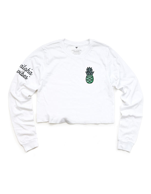 Tropic Pineapple Logo - Cropped Long Sleeve