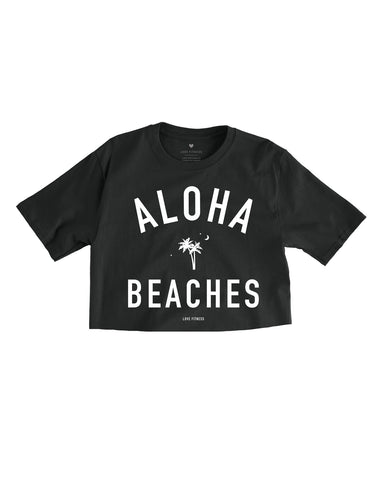 BEACHES | BLACK CROPPED TEE