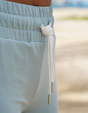 Aloha Jogger Shorts - Dusty Blue