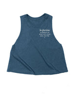 Always Be Fearless - Navy Blue Crop Tank
