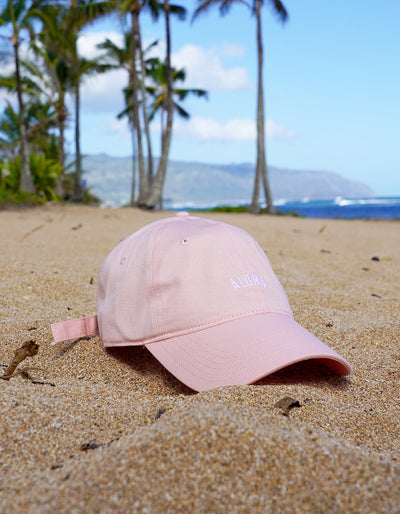 Aloha Dad Hat - Baby Pink