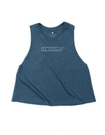 Be Fearless - Navy Blue Crop Tank