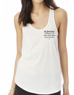 Be Fearless Shirttail Tank Top - White