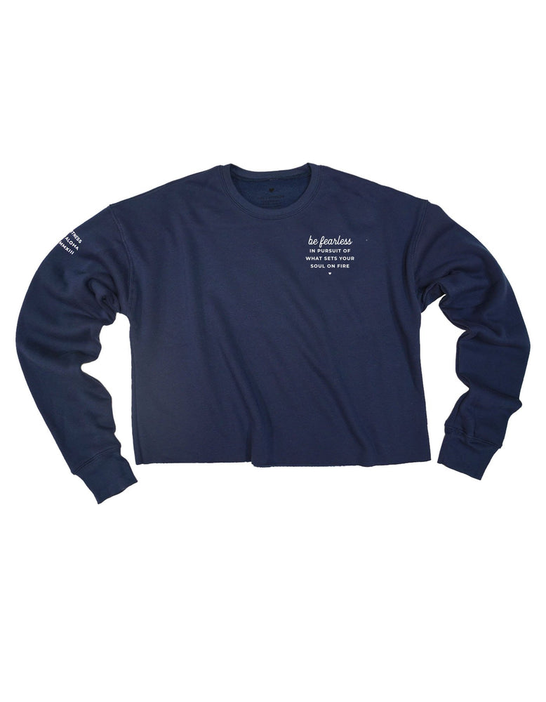 Be Fearless Fleece Sweatshirt - Navy
