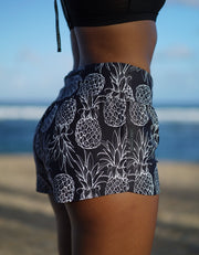 Love Fitness Apparel Black Pineapple running shorts Pineapple runners Pineapple shorts Pineapple Joggers
