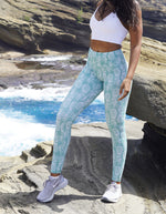 Love Fitness Apparel Dusty Blue Pineapple Leggings Mint pineapple tights