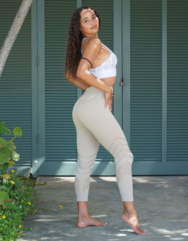 Edge Seamless Leggings - Creme