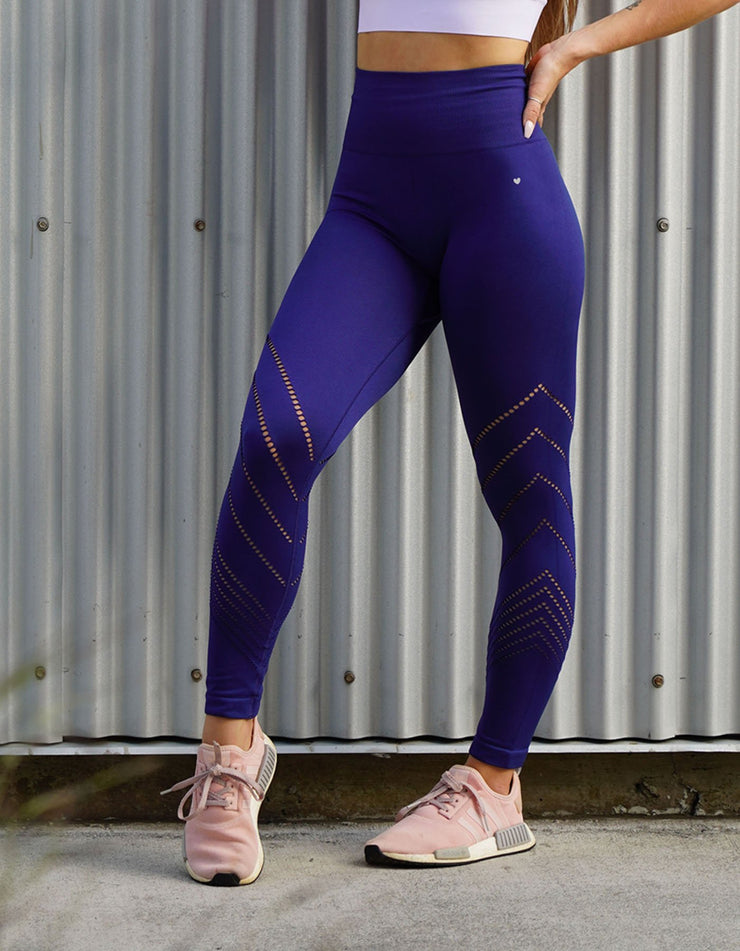 Edge Seamless Leggings - Royal Blue