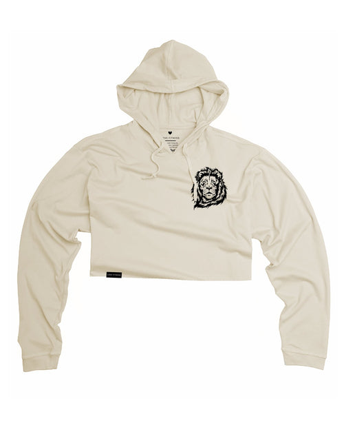 Fearless Lion Crop Lightweight Hoodie
