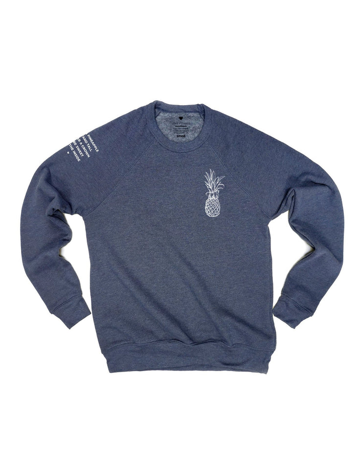 Pineapple Logo Raglan Sweatshirt - Triblend Navy