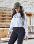 Heather Grey Keep Hustlin' Cropped Hoodie