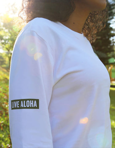 love fitness apparel live aloha hawaii long sleeve shirt palm tree