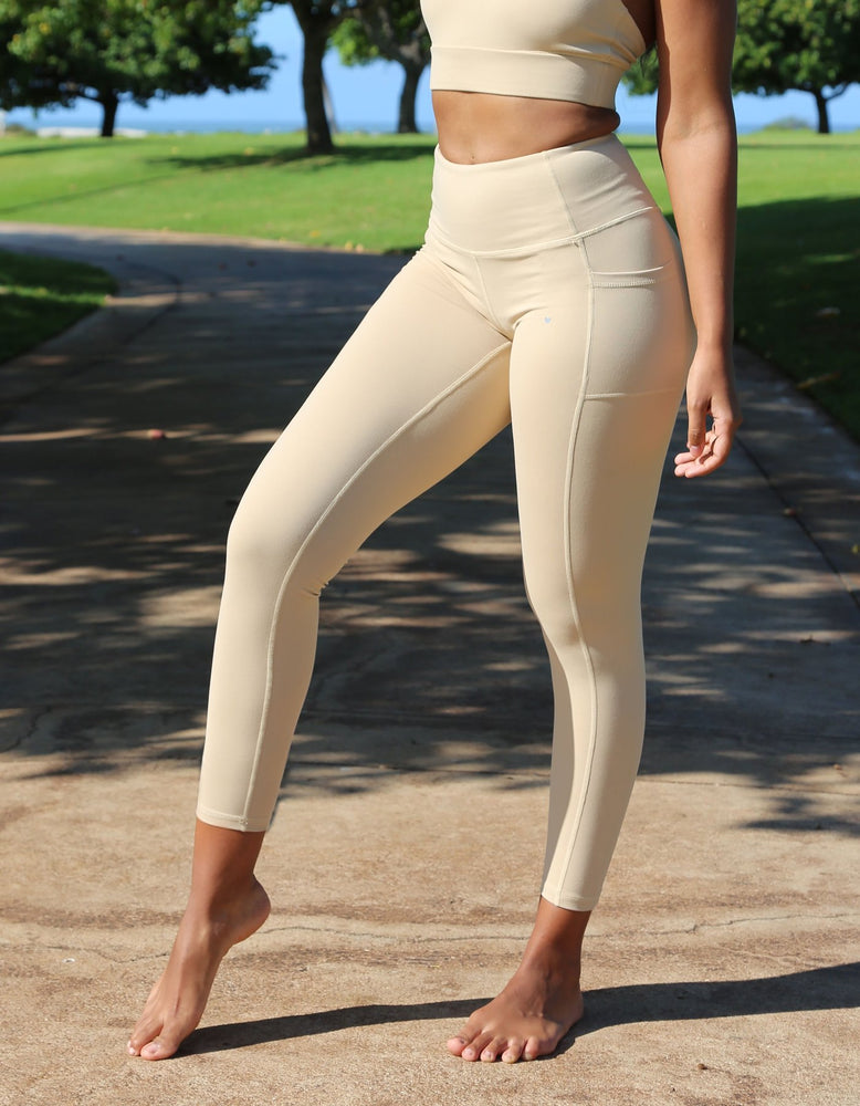 Luxe Pocket Leggings - Nude