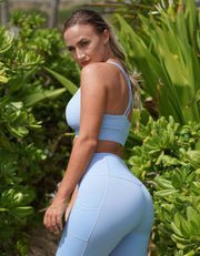 Luxe Pocket Leggings - Light Blue