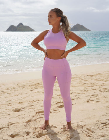 Luxe Pocket Leggings - Lilac