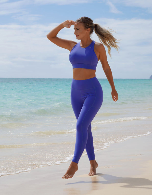 Luxe Pocket Leggings - Lush Blue