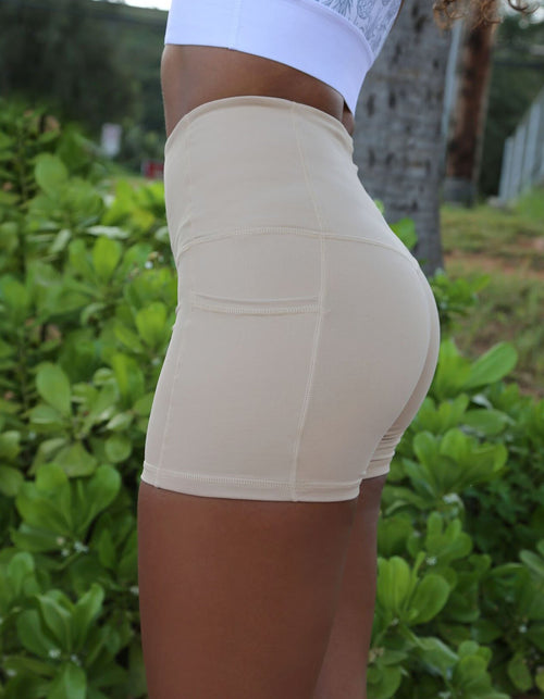 Luxe II - Nude High Waisted Shorts