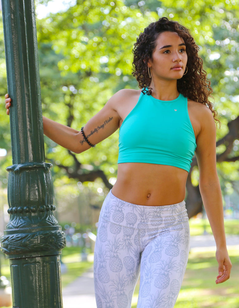 Luxe Sports Bra - Pacific Teal
