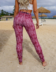love fitness maroon pineapple leggings