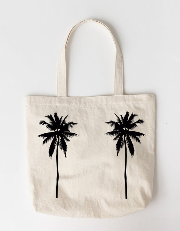 Palm Tree Large Tote Bag