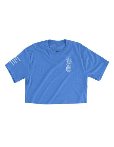 Pineapple Logo - Columbia Blue Cropped Tee