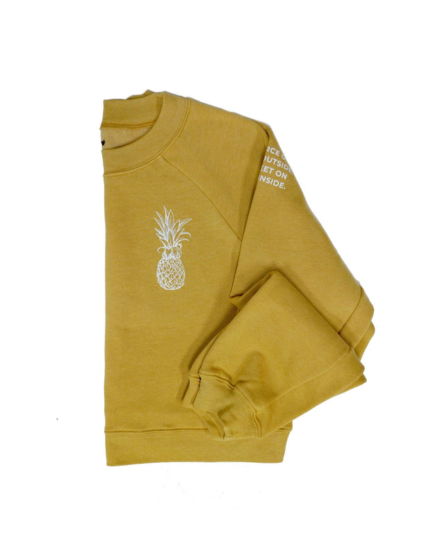 Pineapple Logo Crop Sweatshirt - Honey