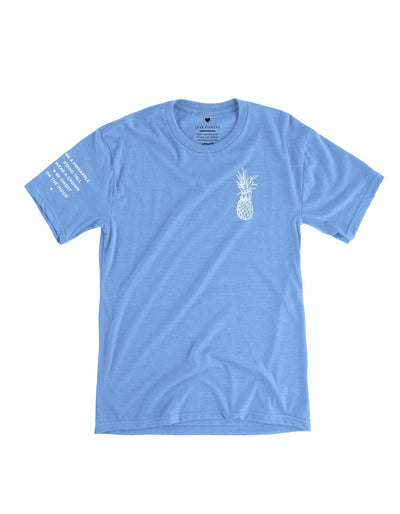 Pineapple Logo Tee - Sky Blue