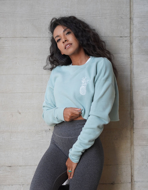 Pineapple Logo Fleece Sweatshirt - Dusty Blue