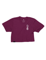 Pineapple Logo Crop Top - Triblend Maroon
