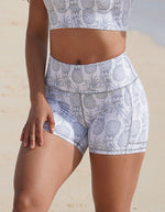 White Pineapple Pocket Shorts