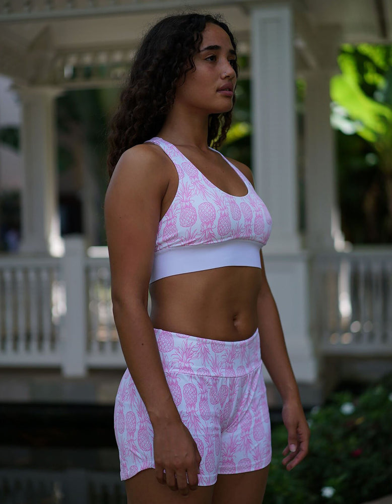Pink Pineapple Sports Bra