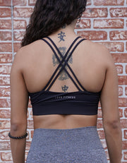 Rebel Crisscross Sports Bra - Black