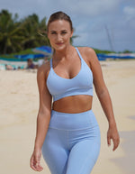 Rebel Sports Bra - Light Blue