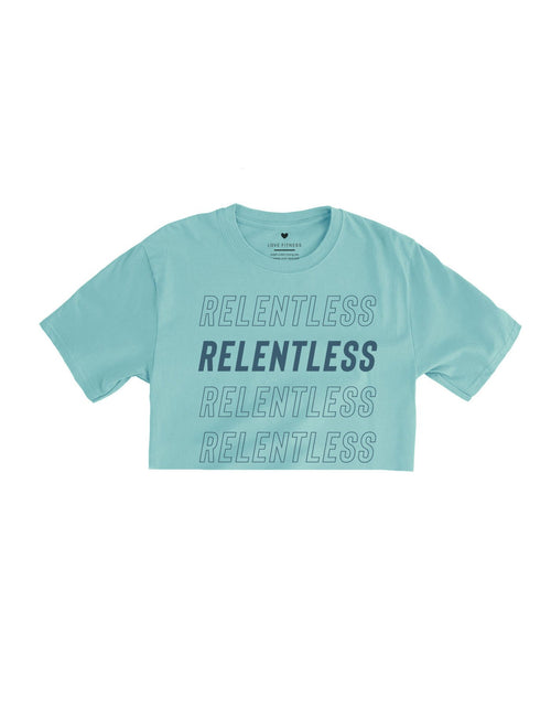 Relentless Pursuit Crop Top - Dusty Blue
