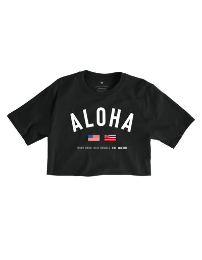 State of Aloha Cropped Tee