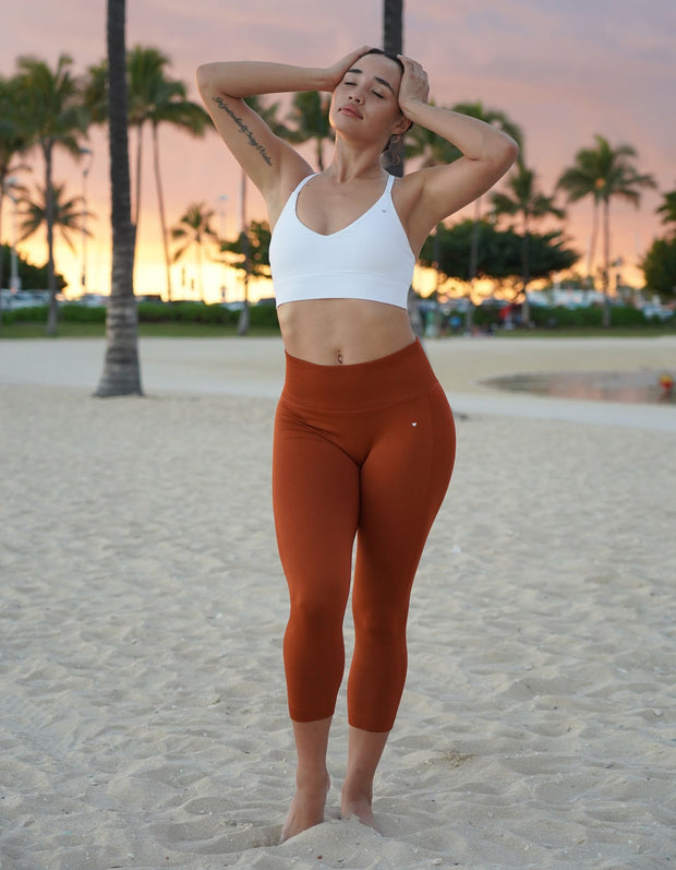 love fitness urban seamless leggings burnt orange capris