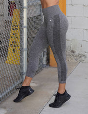 love fitness urban seamless leggings Charcoal grey capris