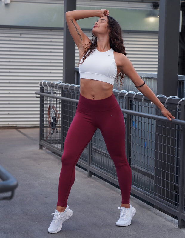 Love Fitness Urban Seamless leggings maroon seamless leggings