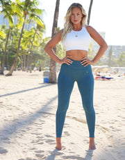 love fitness apparel ocean blue urban seamless leggings