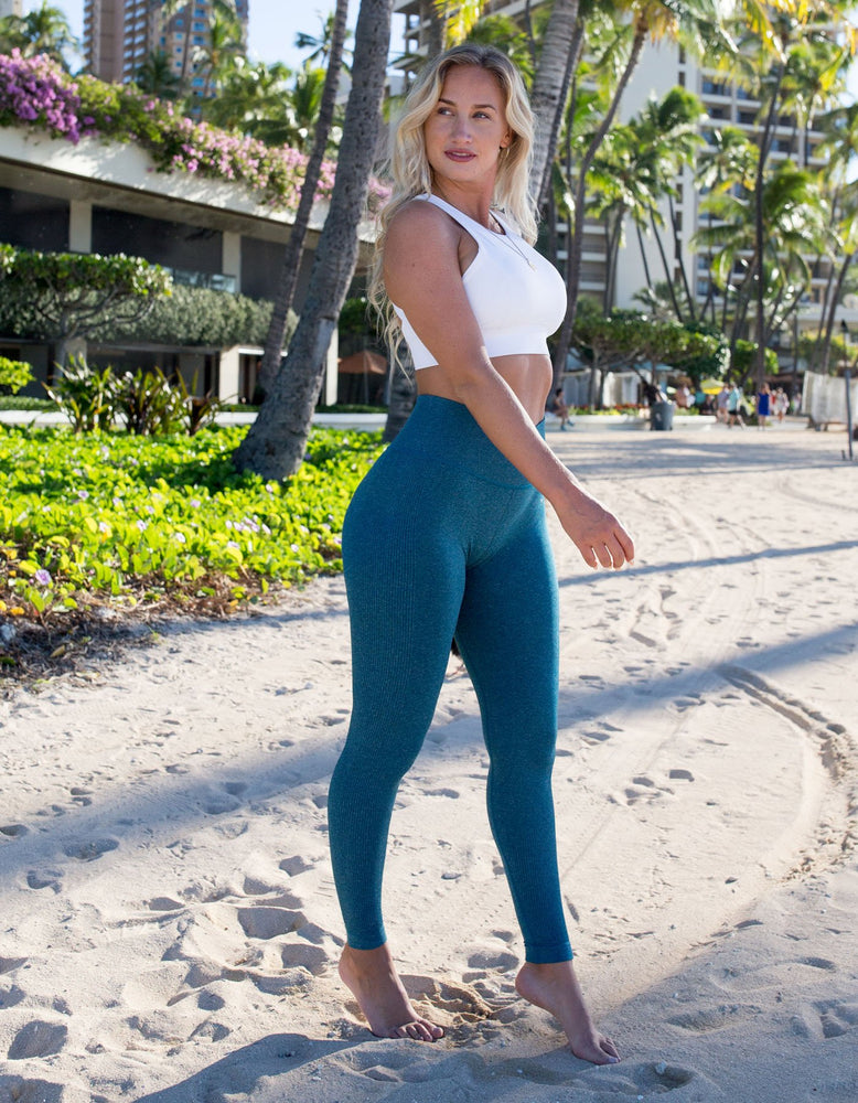 Urban Seamless Leggings - Ocean Blue