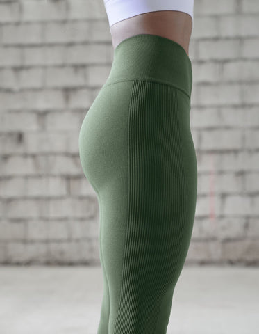 love fitness apparel urban seamless leggings olive green